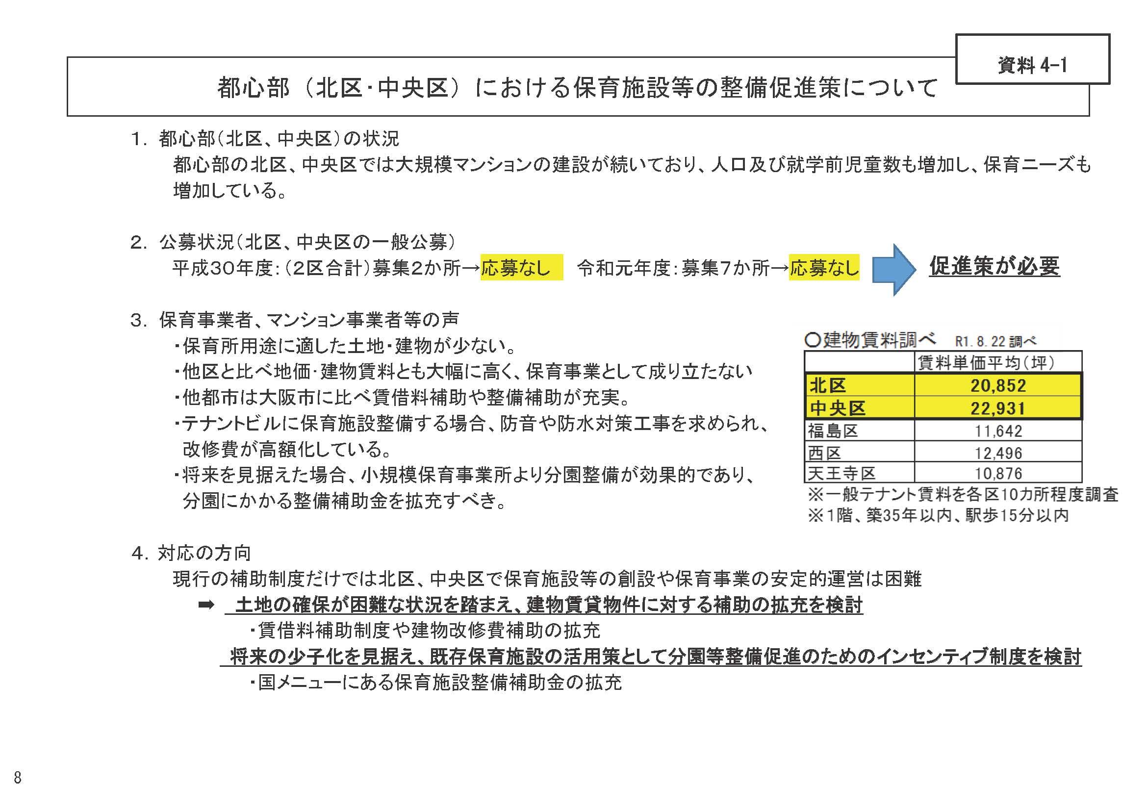 【朝日新聞より】タワマン増えたが保育所足りず 高賃料が壁、大阪市が補助策検討